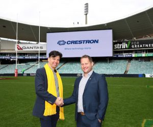 crestron teams up with australian rugby union