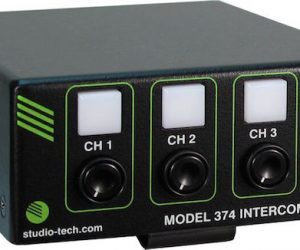 studio technologies model 374 dante talkback beltpack device